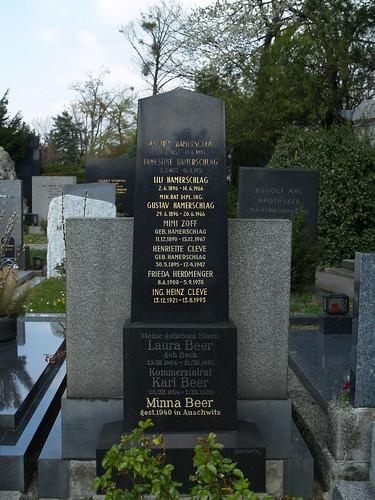 Vienna - in memoriam Minna BEER {Hamerschlag, Cleve, Herdmenger, Zoff family}
