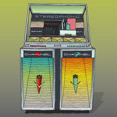 Jukebox (George Pollard) Tags: colour illustration design artwork drawing single pitch jukebox illustrator vector ep lineart channel2 hifidelity channel1 stereophonic selectomatic themoons