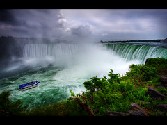 Joy ride (Kaj Bjurman) Tags: canada water clouds eos boat waterfall niagara falls hdr kaj cs3 photomatix 40d bjurman