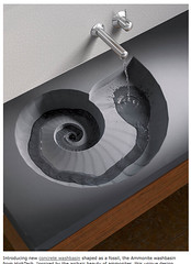Concrete Washbasin from HighTech - Ammonite washbasin shaped as a fossil | Trendir_1214524630073
