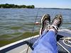 Vacation FUTAB!!!!! (ZanderVision) Tags: family summer vacation feet me water wisconsin rural relax boat fishing shoes july boating beaverdamlake sneaks futab feetuptakeabreak