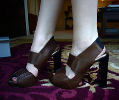 SS08 Marni Heels (Samantha.Doll) Tags: summer brown black cute leather fashion spring shoes designer adorable heels 2008 marni elastic lucite ss08