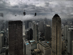 Chicago Skyline - trailing storm clouds (doug.siefken) Tags: park morning urban cloud chicago storm tower art rain weather fog skyline clouds buildings geotagged photo moving illinois still artwork flickr downtown day cityscape foto loop searstower doug foggy cities windy uptown photograph r fotos hyatt parkhyatt thunderstorm trumptower douglas nite thunder urbanscape streeterville chicagoskyline urbanscapes chicagoist citscapes fpc chicagoan topofthefog siefken dougsiefken douglasrsiefken justchicagoart