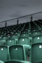 Gritty empty chairs (Matt Stanton) Tags: stand moody chairs f14 empty overcast desolate f28 nikon85mm d80