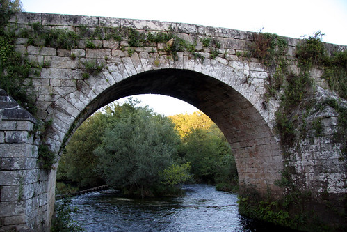 Ponte Ledesma, zona central augas abaixo