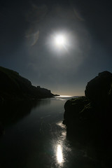 atlantic moon (.Rohan) Tags: ireland moon reflection night cove cork baltimore luna atlantic moonlight sicandfriends
