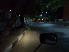 We rule the empty Chennai streets (Tricia Wang ) Tags: india ravi motorcylce tricia