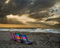 The Ocean (beforethecoffee) Tags: morning travel vacation sky seagulls beach sunrise 50mm coast sand surf waves shoreline southcarolina nobody atlantic resort f16 hdr highdynamicrange d3 eastcoast lithchfieldbeach