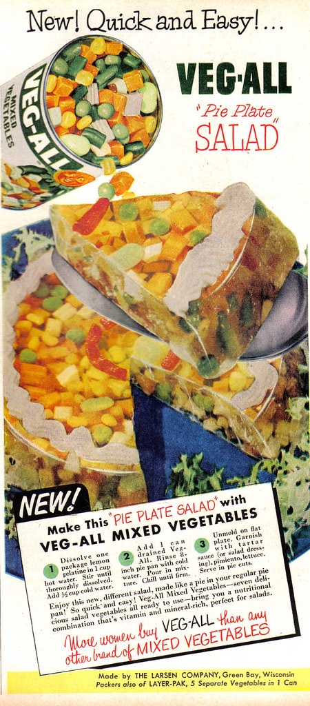 Vintage Ad #594: Veg-All Pie Plate Salad