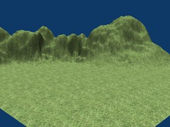 Mountains with texture but no stenciling.