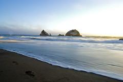 Icing (lkylindy) Tags: ocean sf california ca sunset sun sunlight beach water rock fog bay coast sand nikon san francisco waves afternoon pacific july wave filter nd area coastline 2008 d40 abigfave amazingamateur adoublefave goldstaraward