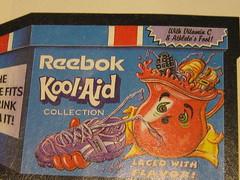 Come to think of it, it does taste like... (kittiegeiss) Tags: colorful gross sneaker gag koolaid reebok brandmashup