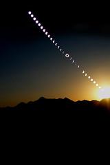 Parts of Solar Eclipse 2008 (╬Thomas Reichart ╬) Tags: china eclipse desert astronomy 2008 wüste reise solareclipse totality astronomie sonnenfinsternis partiell serienaufnahme totalität reihenaufnahme serienbelichtung