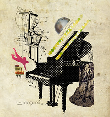 You don't even play piano (guilherme lepca) Tags: brazil collage brasil illustration dress earth piano grand round draw colagem ilustrao ilustracion lepca