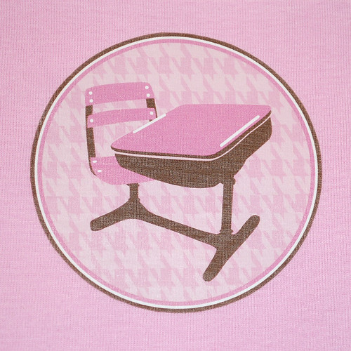 Back to School Houndstooth Desk Toddler Tee Up Close by oliverlane
