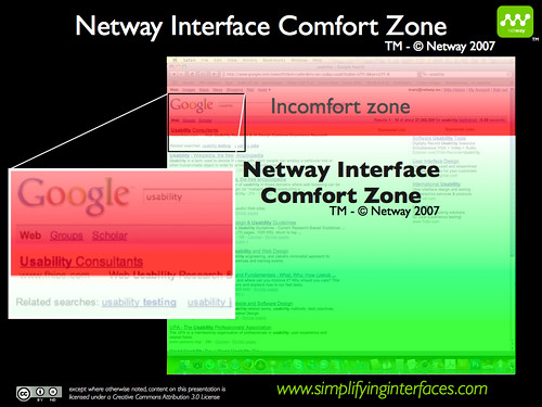 Netway Interface Comfort Zone - Google