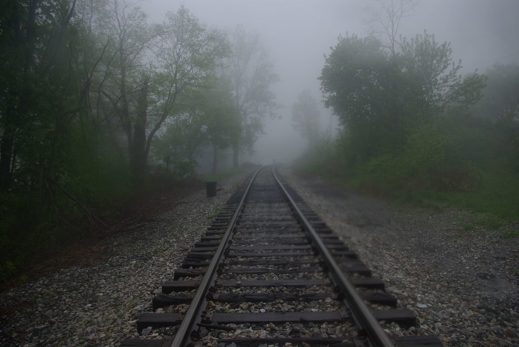 Western Maryland Railway in the mist.