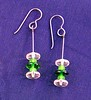 pink/green earrings