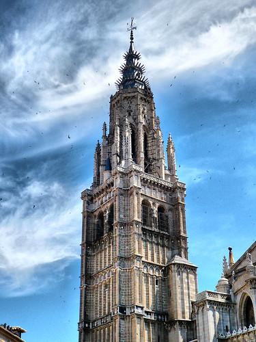 HDR Torre de la Catedral de Toledo