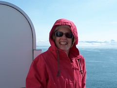 Joanne Bundled Up but Happy (jayroberts45) Tags: alaska bay princess diamond glacier joanne
