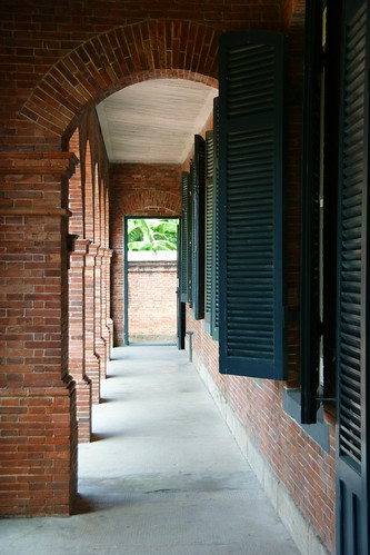 The porch of the main masion, Fort San Domingo