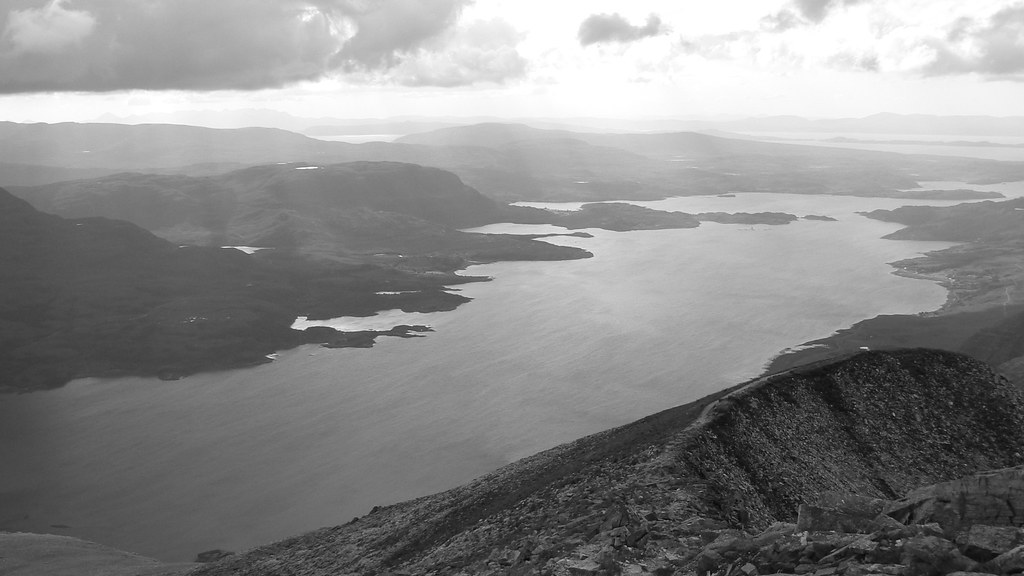 Upper Loch Torridon in B&W