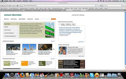 Lehman Brothers website today - Sep 16 2008