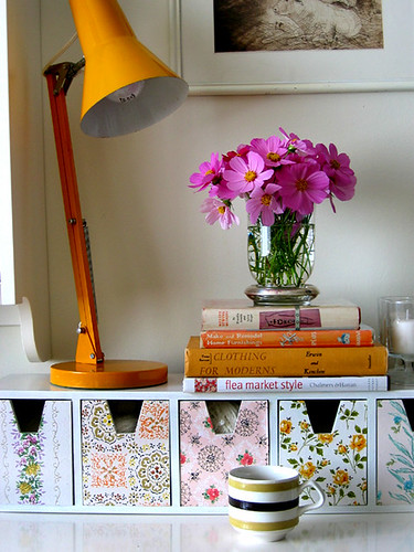 orange and purple nook