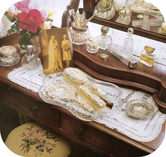dressing table (lorryx3) Tags: vintage perfume crystal doily dressingtable