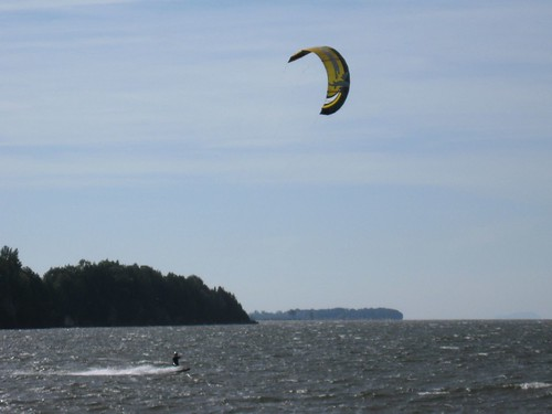 Kiteboarding on Lake Champlain