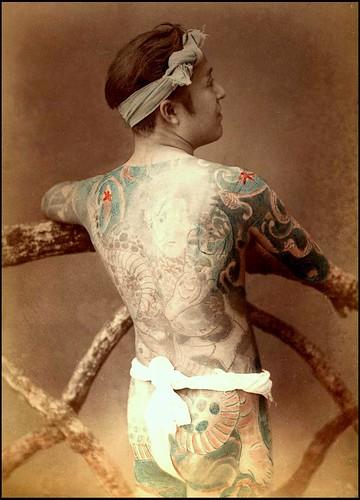 Design tattoo japans body model