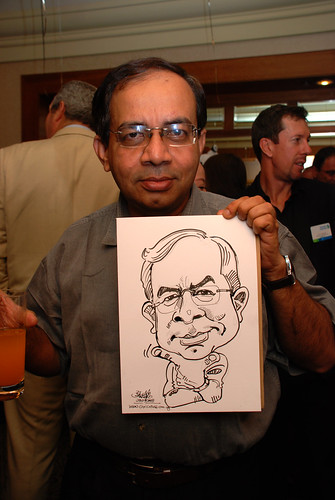 Caricature live sketching for Standard Chartered Bank Legal Learning Event 2