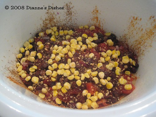Slow Cooker Mexican Stack Up: Corn