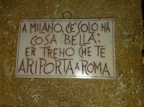 cartello milano roma