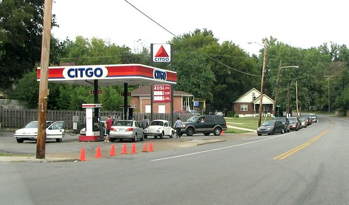 Gas line on Porter Road
