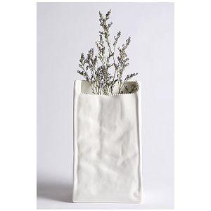 grocery bag vase