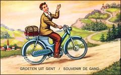 (BurstsofSingleMindedness) Tags: belgium belgique belgie ghent gent gand vintagepostcards fantasiekaarten