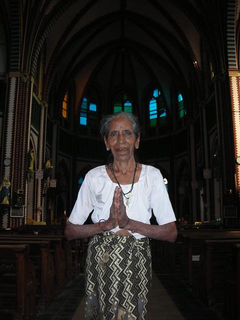 Yangon 11 - Caretaker at St Marys CathedralJPG by Ben Beiske