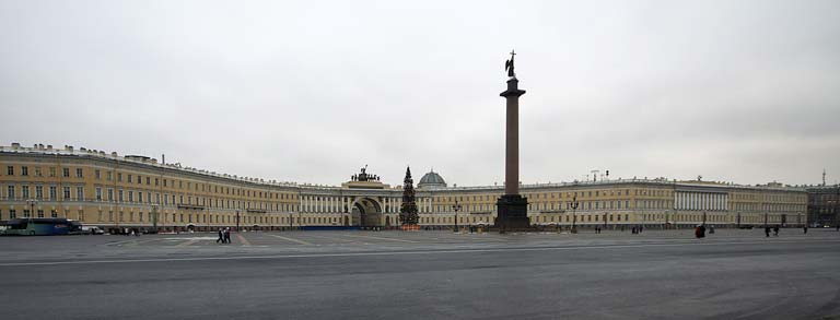 Palace Square in St. Petersburg, Russia
