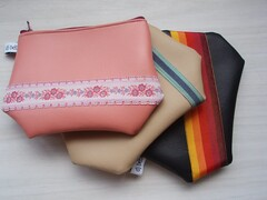 sweet vinyl pouches (djbebe) Tags: sewing vinyl craft pouch madeit