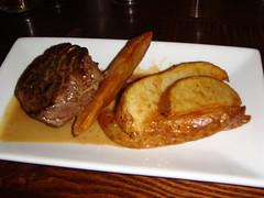 8oz pan fried rib-eye steak at Guilty Lily, Bonnington Road, Edinburgh