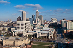 Downtown Indianapolis (scottdunn) Tags: kite skyscraper photography indianapolis indiana aerial kap aerialphotography kiteaerialphotography capitolbuilding urbanskyline scottdunn fotografiaareacompipa photoparcerfvolant fesseldrachenluftbildfotografie