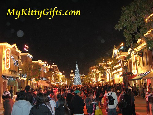 Hello Kitty Watching Snowfall at Main Street of Hong Kong Disneyland