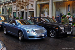 GT & Phantom (Kurt Blythman) Tags: auto uk cars car wheel speed spur flying automobile c 4 wheels continental automotive british autos gt luxury coupe bentley gtc cabrolet enlish