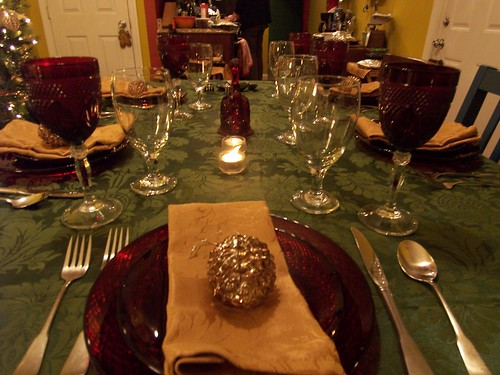 Another of the table on Christmas eve