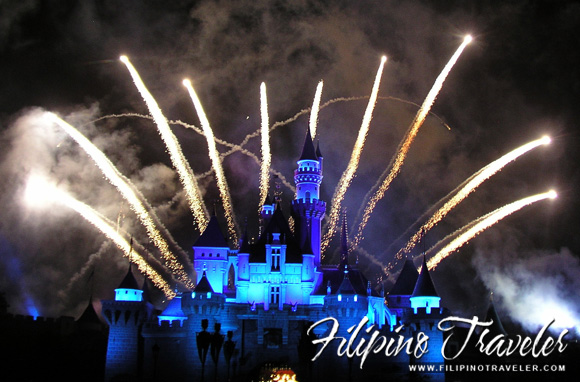 Fireworks at Hongkong Disneyland Resort