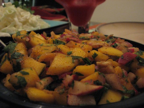 Mango and Radish salsa