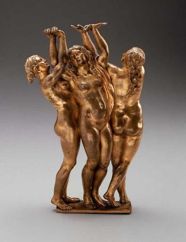 009 Las Tres Gracias- Alemania-Georg Petel- alrededor de 1624-Bronce dorado-© 2009 Museum of Fine Arts, Boston
