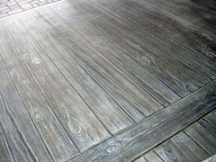 Faux wood finish on concrete patio (avalonsculpture) Tags: patio muralpainting fauxfinish avalonstudios joshporter kidsplayroom