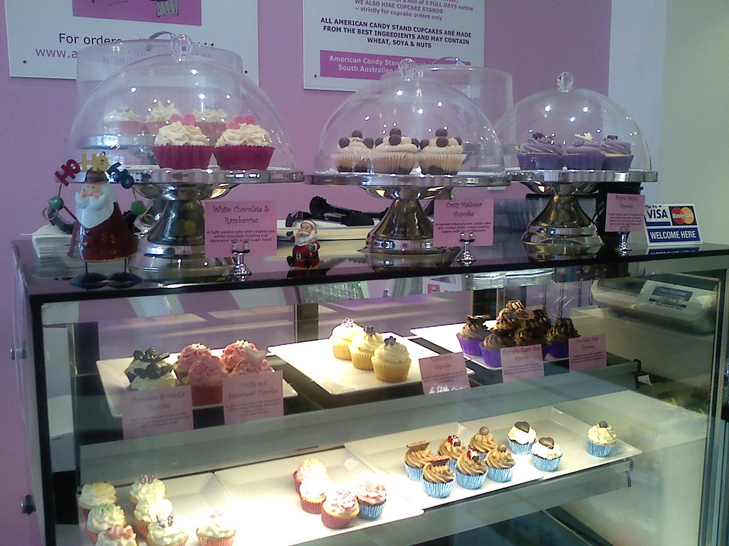 cupcake display counter & fridge
